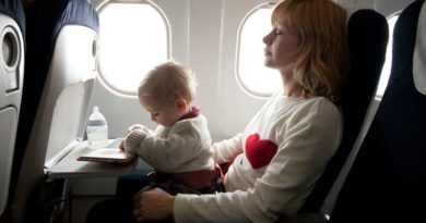 Bayi dan ibu pesawat